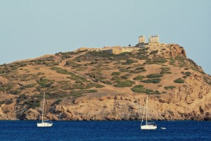 Sounion: The anchorage under the ruins of the Temple of Poseidon