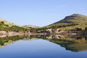 Statival: Tranquil waters in the anchorage of the sparcely populated bay