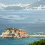 Sveti Stefan: The island with anchorages either side, though one side may be buoyed off