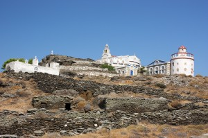 Isternia: The monastery of Panagia Katapolianis, a couple of miles from the bay.