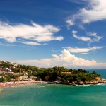 Ulcinj: One of the several beaches in town, one of which is 14km long