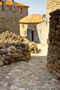 Ulcinj: A back alley in the walled old town