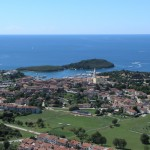 Vrsar: The town and marina, looking out to the island of St. Jura