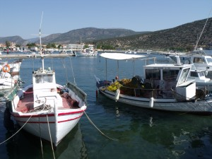 Ermioni: Boats in the fishing harbour