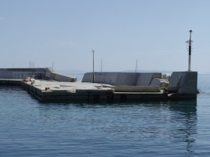Plaka: Damage to quay following storms in 2012