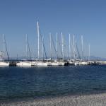 Tiros: Yachts on the quay in the small harbour