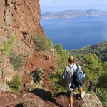 Vathi: Walking up to the volcano