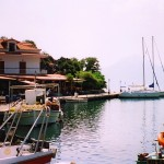 Vathi: The yacht quay and restaurants