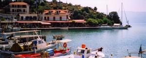 Vathi: The unusually empty harbour