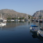 Bozburun: The harbour from the entrance, with yachts on all sides!