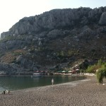 Ciflik: Ducks on the beach, with the boutique hotel & its jetty behind