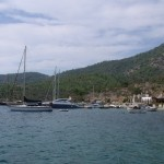 Cokertme: An assortment of boats moored off the village beach