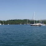 Okluk Koyu: Yachts at anchor in the inlet