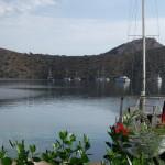 Dirsek: Boats at anchor seen from the restaurant