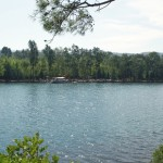 Longoz: View across the inlet to the camp