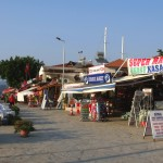 Selimiye: Mini markets and restaurants at the harbours edge