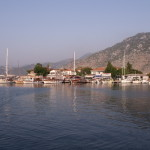 Selimiye: The quay in front of the mini markets