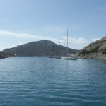 Serce Limani: View from Captain Nemo's towards the bay entrance
