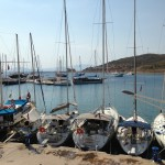 Datca: South bay with yachts on the town quay