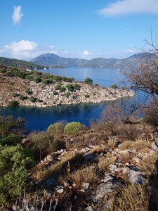 Tersane: View across Gocek Bay
