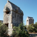 Kalekoy: Some of the many Lycian tombs