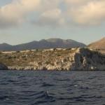 Loryma: The Citadel at dusk from the bay entrance