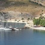 Loryma: Yachts on the north restaurant jetty