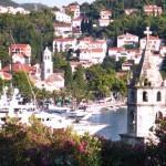 Cavtat: Motor boats on the quay