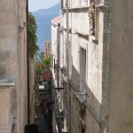 Korcula Luka: An alley in the walled city