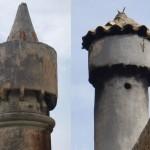 Lastovo Town: Examples of traditional fumari (chimneys)
