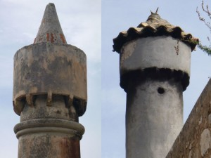 Lastovo Town: Examples of traditional fumari (chimneys)