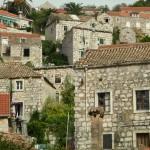 Lastovo Town: Houses on the hillside