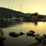 Nea Epidavros: Sun set over the harbour