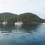 Polace: Charter yachts at anchor in the popular bay
