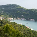 Sipanksa Luka: Yachts in the bay - a view from a good walk!