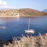 Alkion Islands: The anchorage