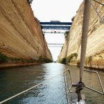 Corinth Canal: Off we go