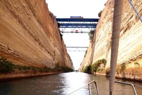 Corinth Canal: View from a yacht