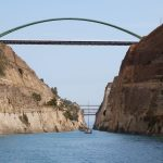 Corinth Canal: A convoy